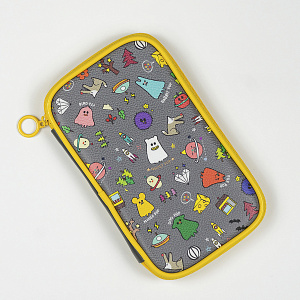 Ghost Pop Pencil Pouch Gray 1017