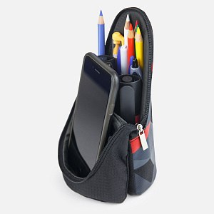FD-1593-DR,Brave Pen Case Black&Red
