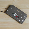 Ghostpop zipper wallet M Gray 1017