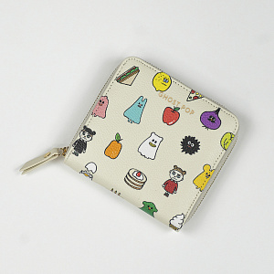 Ghost Pop Zipper Wallet S2 Ivory 1017