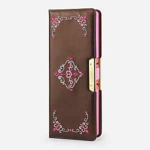 SK-5067-BR,Tiara Pen Case Brown