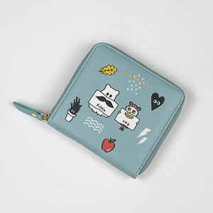 Ghost Pop Zipper Wallet S2 Sky
